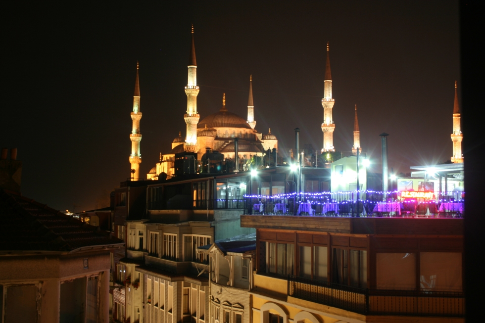 Blue Mosque, Turkey, roof tops, Istanbul, Turkey, night, travel photography, Turkey travel photography