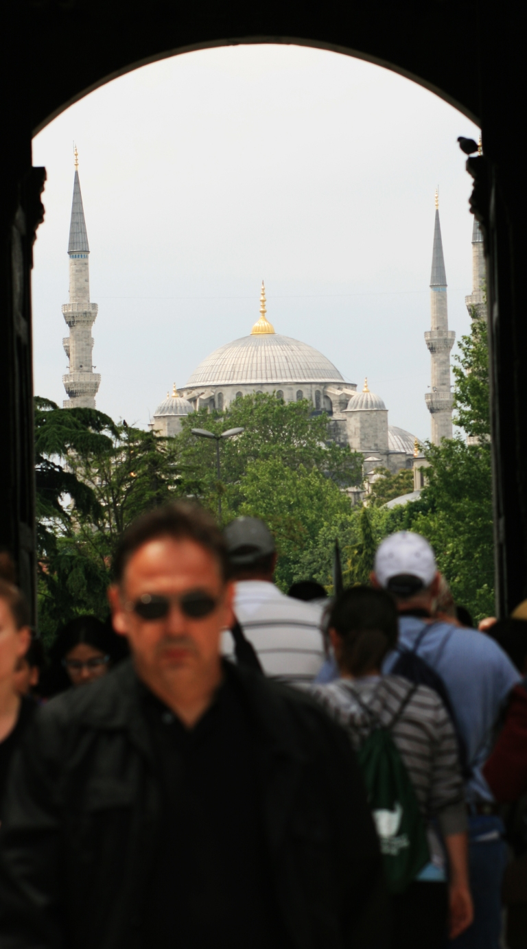 Looking back at the Blue Mosque, Topkapi Palace