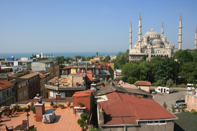 Istanbul photography, Blue Mosque, Istanbul, Turkey, rooftops, travel photography, travel photos