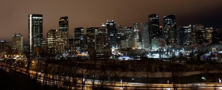 Downtown Calgary, Downtown Calgary Lights, Downtown Calgary, Night, Downtown, Calgary, Lights, Night