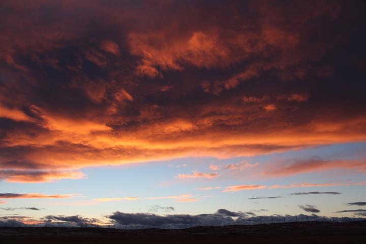 Cowley, sunset, Alberta, windmills, travel, photography, photos
