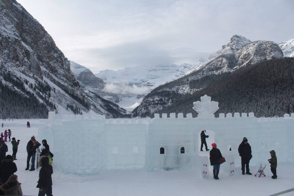 Lake Louise, Alberta, Canada, Ice Magic Festival, Banff National Park, Banff
