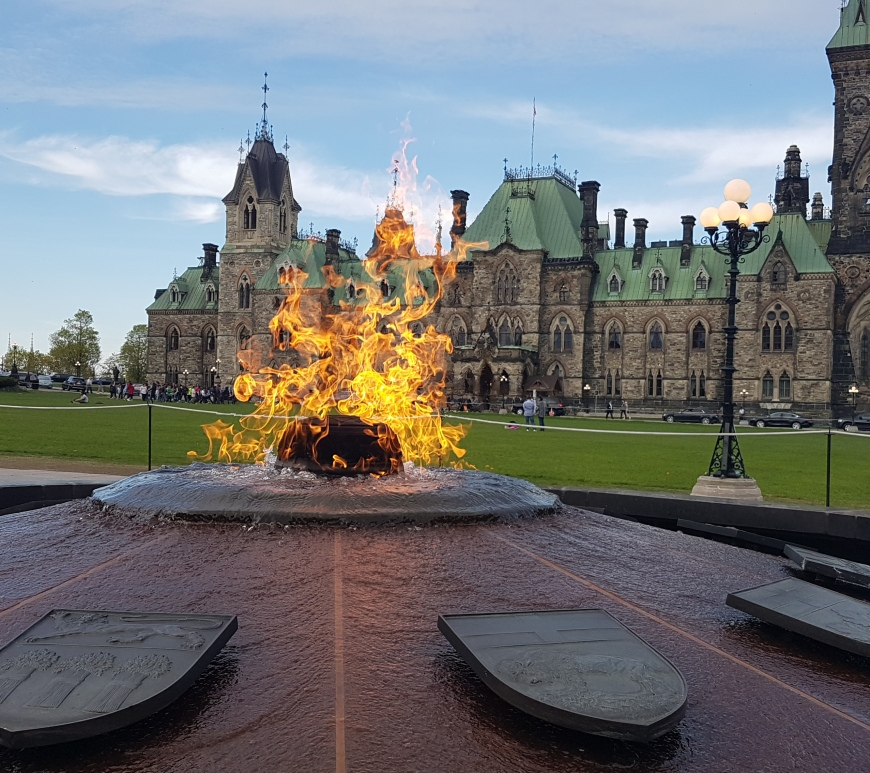 Ottawa Tourism, Ottawa Attractions, Parliament Hill, Centennial Flame