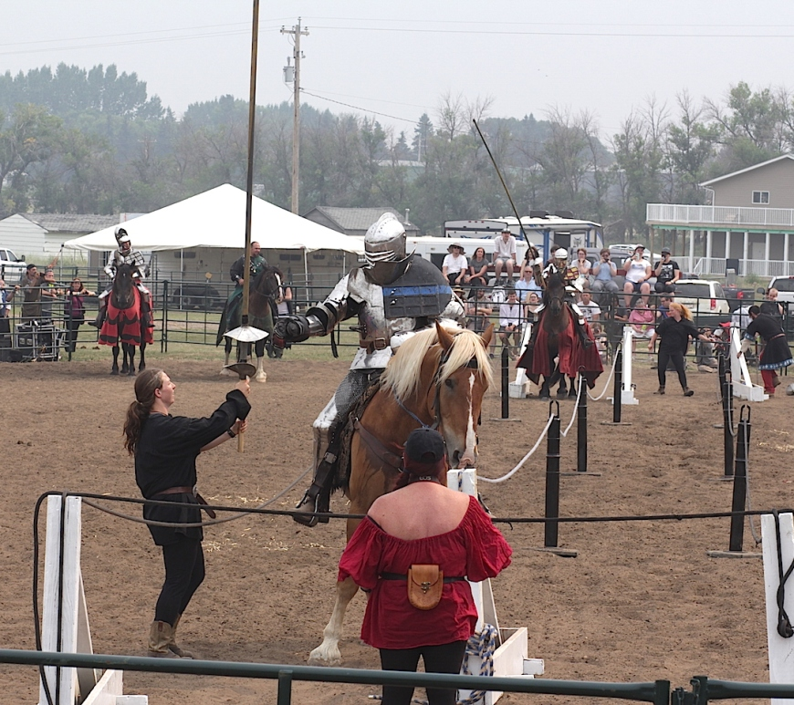 Medieval Jousting action at Brooks Medieval Faire